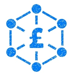 Pound finance network grainy texture icon vector