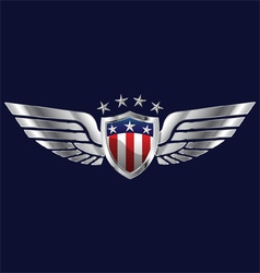 American Wings vector image