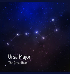 Great bear constellation vector