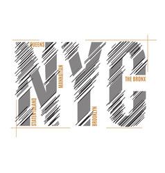 new york tee print t-shirt design graphics stamp vector image