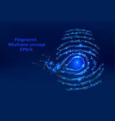 Abstract digital-fingerprint with points lines vector