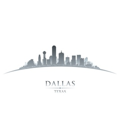 Dallas texas city skyline silhouette vector