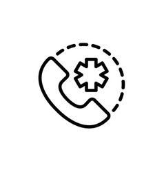 24 hour around the clock medical call suppot icon vector image
