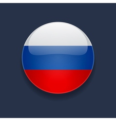 Round icon with flag of russia vector