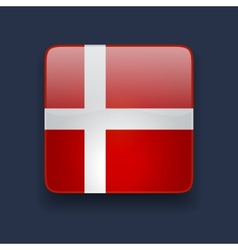 Square icon with flag of denmark vector