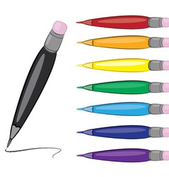 colorful pens set vector image