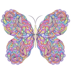 Colorful abstract butterfly vector