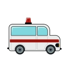 Ambulance cartoon icon on white background vector
