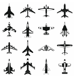 Aviation set icons vector