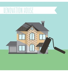Concept renovation house remodelingflat design vector