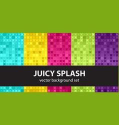 Abstract pattern set juicy splash seamless vector