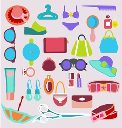 accessories vintage icons vector image vector image