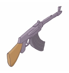 Automatic machine ak 47 icon cartoon style vector