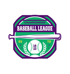 baseball championship vintage isolated label vector image vector image