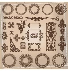 beautiful ornamental pattern vector image vector image