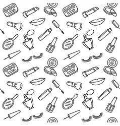 beauty cosmetics and makeup pattern vector image vector image