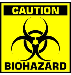 Caution biohazard sign vector