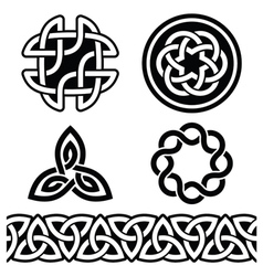Celtic Irish patterns and knots - vector image vector image