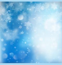 fallen defocused snowflakes blured template eps vector image vector image