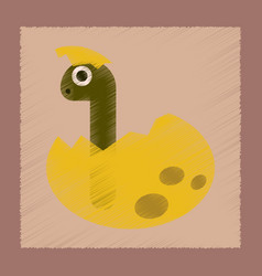 Flat shading style icon cartoon dinosaur egg vector