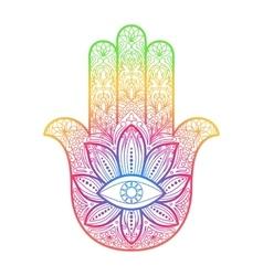 Hamsa hand of fatima amulet vector