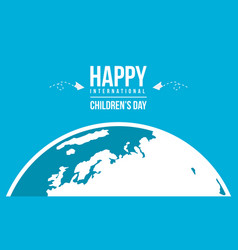 Happy international childrens day background vector