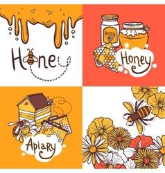 Honey Design Concept vector image vector image
