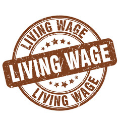 Living wage stamp vector
