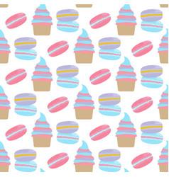 macarons cake pattern vector image