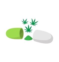 Medical marijuana pill icon isometric 3d style vector