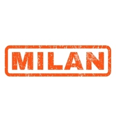 Milan Rubber Stamp vector image vector image