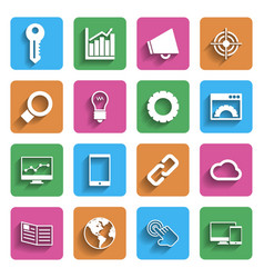 Modern Internet Marketing Icons vector image vector image