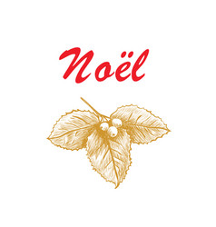 noel french christmas lettering vector image