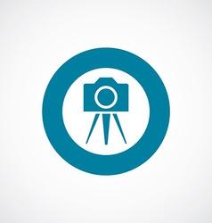 photo camera tripod icon bold blue circle border vector image vector image