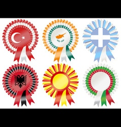 rosettes southern european vector image vector image