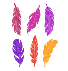 set of colored silhouette vector image vector image