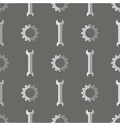 Set of Metallic Wrench Grey Seamless Pattern vector image vector image
