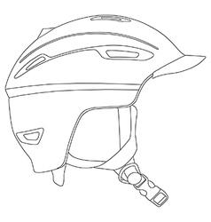 Snowboarding helmet vector image vector image