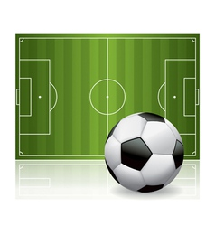 Soccer - football field and ball vector