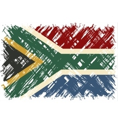 South african grunge flag vector