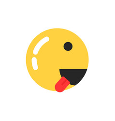 yellow smiley icon like runner vector image