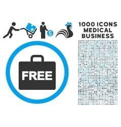 Free accounting icon with 1000 medical business vector