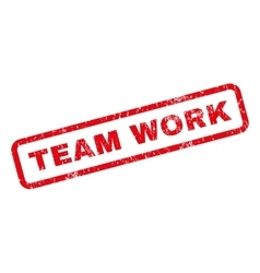 Team work rubber stamp vector