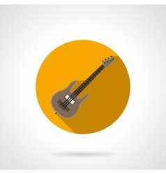 Music lessons flat color round icon vector