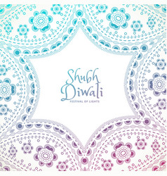 beautiful floral paisley decoration with shubh vector image