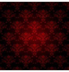 Decorative red seamless wallpaper vector