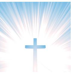 Heaven christian cross vector