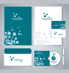 Document template design with silhouette of vector