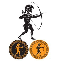gladiator arrows vector image