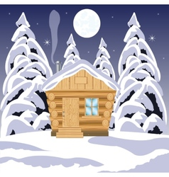 House in wood vector